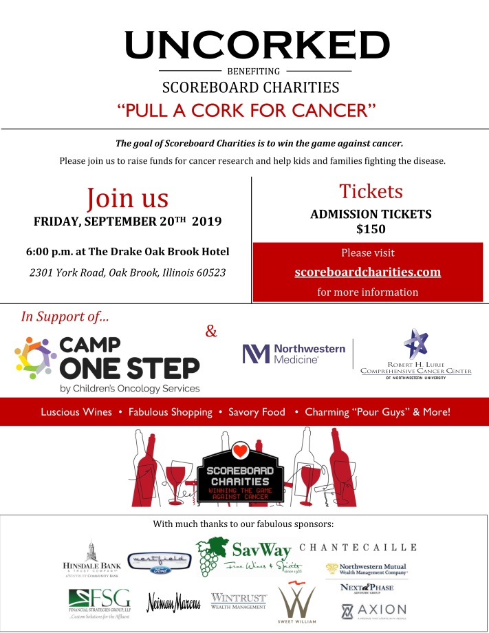 UNCORKED flyer with correct logo and sponsors